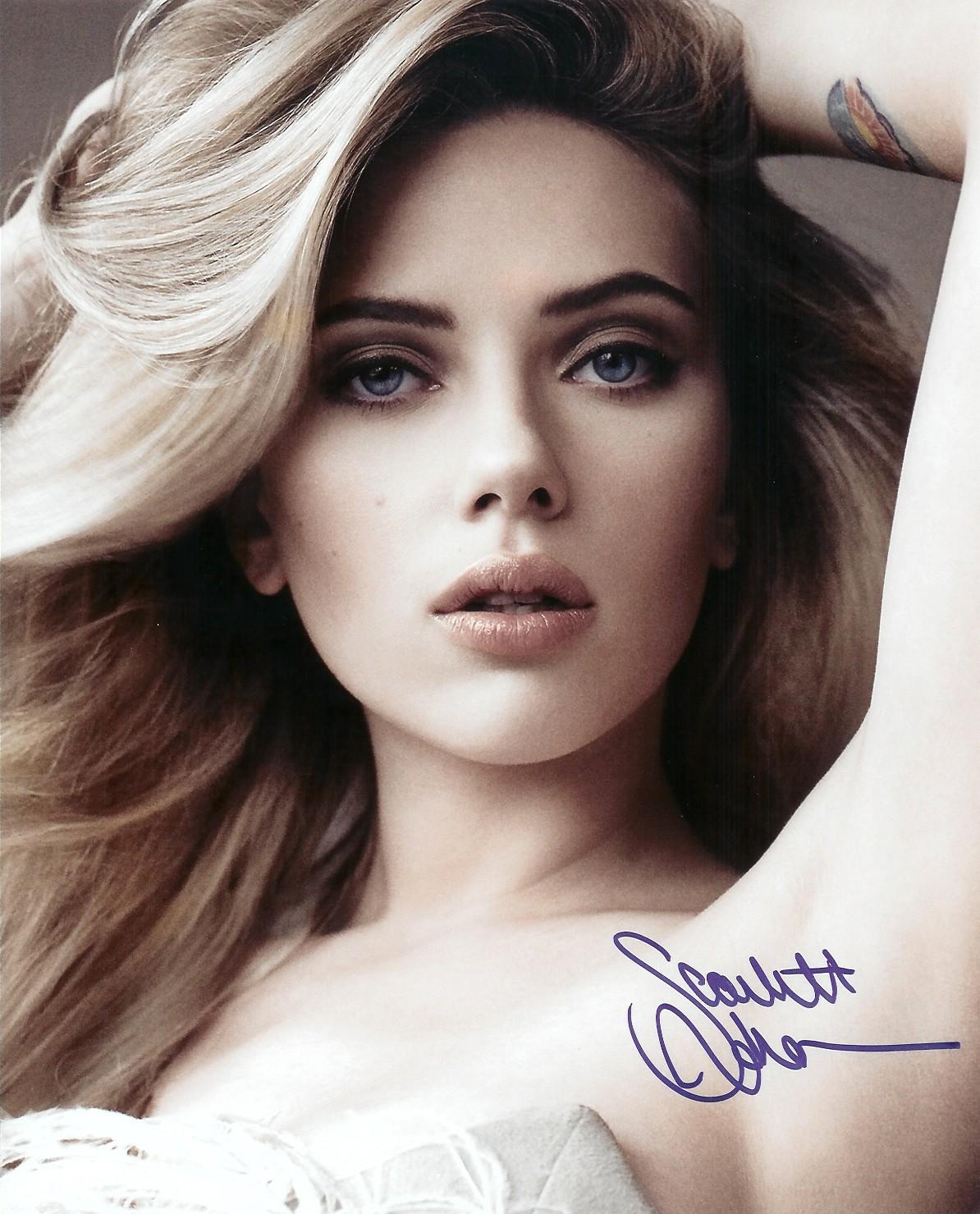Scarlett Johansson autogram